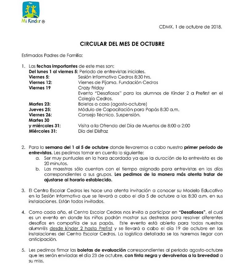 circular español 1-oct 2018